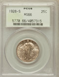 Standing Liberty Quarters: , 1928-S 25C MS66 PCGS. PCGS Population (147/5). NGC Census:(128/20). Mintage: 2,644,000. Numismedia Wsl. Price for problem ...