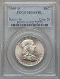 Franklin Half Dollars, 1960-D 50C MS66 Full Bell Lines PCGS....
