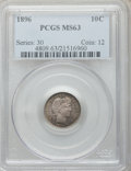 Barber Dimes: , 1896 10C MS63 PCGS. PCGS Population (32/61). NGC Census: (15/53).Mintage: 2,000,762. Numismedia Wsl. Price for problem fre...