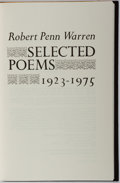 Books:Signed Editions, Robert Penn Warren. SIGNED/LIMITED. Selected Poems. Random House, 1976. Publisher's cloth binding with gilt deco...