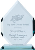 Basketball Collectibles:Others, 2000 Sheryl Swoopes Top Vote Getter WNBA Award. ...