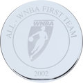 Basketball Collectibles:Others, 2002 Sheryl Swoopes All WNBA First Team Tiffany Award. ...