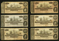 Confederate Notes:1864 Issues, T67 $20 1864 Group Fine and Better Six Examples.. ... (Total: 6 notes)