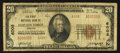 National Bank Notes:Virginia, Clifton Forge, VA - $20 1929 Ty. 2 The First NB Ch. # 6008. ...