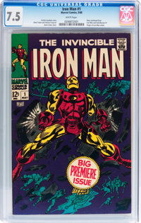 Iron Man #1 (Marvel, 1968) CGC VF- 7.5 White pages