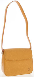 Luxury Accessories:Accessories, Louis Vuitton Yellow Epi Leather Byushi Shoulder Bag. ...