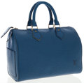 Luxury Accessories:Accessories, Louis Vuitton Toledo Blue Epi Leather Speedy 30 Bag. ...
