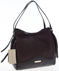 Burberry Brown Leather Brogue Medium Canterbury Tote with Tassels