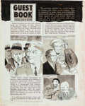"Original Comic Art:Panel Pages, Sick Magazine Page 42 ""Guest Book"" Original Art (Prize, 1970s)...."