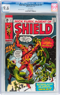 Nick Fury, Agent of S.H.I.E.L.D. #17 (Marvel, 1971) CGC NM+ 9.6 White pages