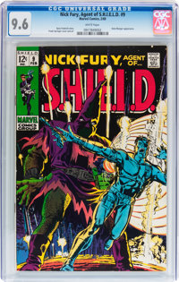 Nick Fury, Agent of S.H.I.E.L.D. #9 (Marvel, 1969) CGC NM+ 9.6 White pages