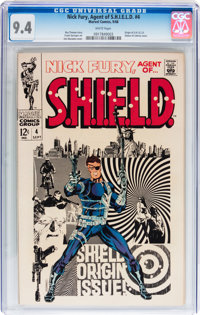 Nick Fury, Agent of S.H.I.E.L.D. #4 (Marvel, 1968) CGC NM 9.4 White pages