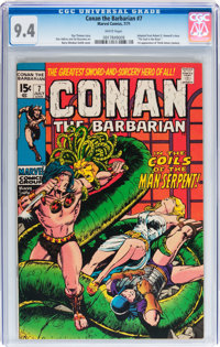 Conan the Barbarian #7 (Marvel, 1971) CGC NM 9.4 White pages