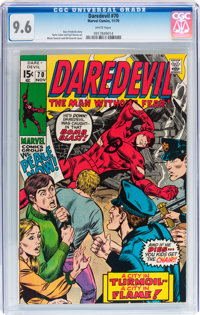 Daredevil #70 (Marvel, 1970) CGC NM+ 9.6 White pages
