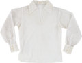 Music Memorabilia:Costumes, Elvis Presley Owned and Worn Lace Shirt....