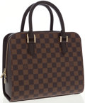Luxury Accessories:Accessories, Louis Vuitton Damier Ebene Canvas Triana Bag. ...