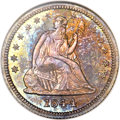 Proof Seated Quarters, 1844 25C PR66 NGC. CAC....