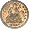 Proof Seated Quarters, 1842 25C Small Date PR65 PCGS....
