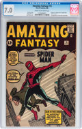 Silver Age (1956-1969):Superhero, Amazing Fantasy #15 (Marvel, 1962) CGC FN/VF 7.0 Cream to off-white pages....