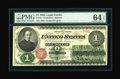 Fr. 16 $1 1862 Legal Tender PMG Choice Uncirculated 64 EPQ