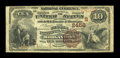 National Bank Notes:West Virginia, Morgantown, WV - $10 1882 Brown Back Fr. 490 The Second NB Ch. # (S)2458. ...