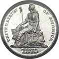 Patterns, 1870 H10C Half Dime, Judd-819, Pollock-909, High R.7, PR65 CameoPCGS. CAC....
