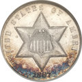 Three Cent Silver, 1867 3CS MS66 NGC. CAC....