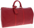 Luxury Accessories:Bags, Louis Vuitton Red Epi Leather Keepall 50 Weekender Overnight Bag....