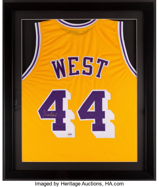 check out 976c4 c5fac Jerry West Signed Jersey.... Basketball Collectibles ...