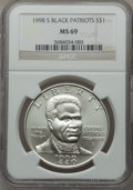 Modern Issues: , 1998-S $1 Black Patriots Silver Dollar MS69 NGC. NGC Census:(814/275). PCGS Population (1329/198). Numismedia Wsl. Price ...
