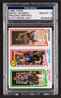 Basketball Collectibles:Others, Signed 1980 Topps Magic Johnson Rookie PSA/DNA Gem MT 10. ...