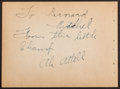 Boxing Collectibles:Autographs, Abe Attell Signed Album Page....