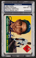 Autographs:Sports Cards, Signed 1955 Topps Sandy Koufax #123 PSA/DNA Gem Mint 10. ...