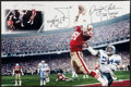 "Football Collectibles:Photos, Dwight Clark Signed Oversized ""The Catch"" Photograph, With Handwritten Play Diagram...."