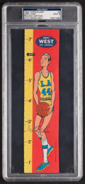 Basketball Collectibles:Others, Signed 1969 Topps Rulers Jerry West #2 PSA/DNA Mint 9....