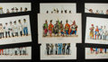 Books:Prints & Leaves, [Military Uniforms]. Group of Nine 19th Century Engraved andHand-Colored Prints. Measure 11 x 16 inches. Mild toning and oc...