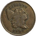 Half Cents, 1795 1/2 C Lettered Edge, Punctuated Date AU55 PCGS. CAC. C-2a,B-2a, R.3....