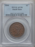 Large Cents: , 1846 1C Small Date AU50 PCGS. PCGS Population (10/136). NGC Census:(9/312). Mintage: 4,120,800. Numismedia Wsl. Price for ...