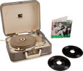 "Music Memorabilia:Memorabilia, Elvis Presley ""Autograph Model"" Portable Manual Record Player with Elvis Presley Promotional Double Disc EP (RCA S... (Total: 2 Items)"