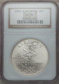Modern Issues: , 2002-P $1 Olympics Silver Dollar MS70 NGC. NGC Census: (706). PCGSPopulation (354). Numismedia Wsl. Price for problem fre...