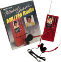 Music Memorabilia:Memorabilia, Michael Jackson Signed (Three Times) AM/FM Radio in Original Box(MJJ Productions, 1984). ...