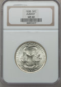 Commemorative Silver: , 1936 50C Albany MS63 NGC. NGC Census: (136/2643). PCGS Population(543/4000). Mintage: 17,671. Numismedia Wsl. Price for pr...