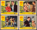 "Movie Posters:Comedy, Meet Me After the Show & Other Lot (20th Century Fox, 1951). Lobby Cards (4) (11"" X 14""), Three Sheet (41"" X 78""), & One She... (Total: 6 Items)"