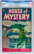Golden Age (1938-1955):Horror, House of Mystery #32 (DC, 1954) CGC VF 8.0 Cream to off-whitepages....