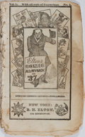 Books:Americana & American History, [Almanac]. Elton's Comic All-My-Nack for '37. R. H. Elton,ca. 1836. [36] pages. Disbound and held with some rough h...