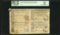Colonial Notes:South Carolina, South Carolina April 10, 1778 Uncut Sheet of Four PCGS Apparent About New 53.. ...