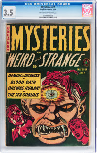Mysteries #7 (Superior, 1954) CGC VG- 3.5 Cream to off-white pages