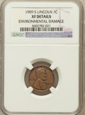 Lincoln Cents: , 1909-S 1C -- Environmental Damage -- NGC Details. XF. NGC Census:(114/504). PCGS Population (219/747). Mintage: 1,825,...