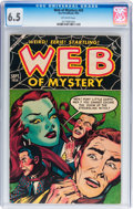 Golden Age (1938-1955):Horror, Web of Mystery #26 (Ace, 1954) CGC FN+ 6.5 Off-white pages....