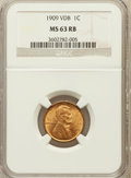 Lincoln Cents: , 1909 VDB 1C MS63 Red and Brown NGC. NGC Census: (581/2323). PCGSPopulation (707/3533). Mintage: 27,995,000. Numismedia Wsl...